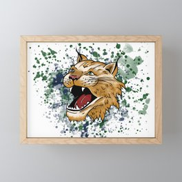 Bobcat Design - LBC Framed Mini Art Print