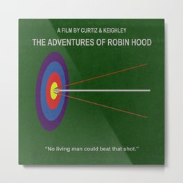 Robin Hood Minimal Movie Poster Metal Print