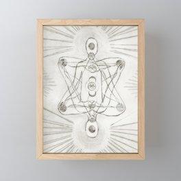 Samadhi white Framed Mini Art Print