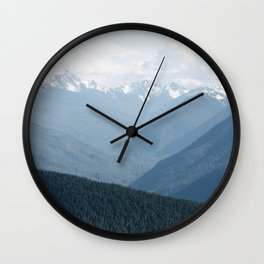 Olympic Mountains Wall Clock
