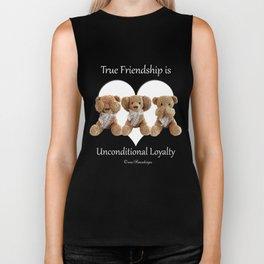 True Friendship is Unconditional Loyalty - Blue Biker Tank
