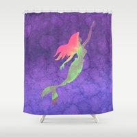 ariel Shower Curtains featuring Ariel  by foreverwars