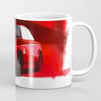 gta Mugs featuring Alfa Romeo Giulia Sprint 1600 GTA by Vadim Artemyev