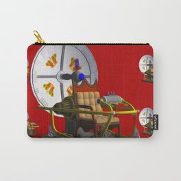 Time Machine on Red Carry-All Pouch