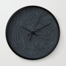 Contour Mapping v.3 Wall Clock