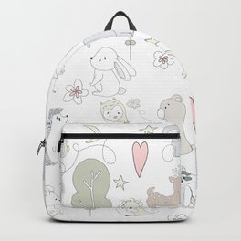 Hand Drawn Cute Animals Backpack