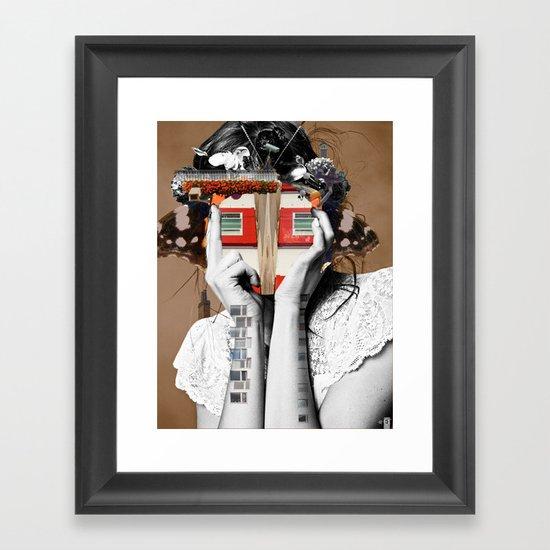 Crazy Woman - Lisa Lara Bella Framed Art Print