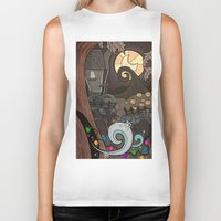 nightmare before christmas Biker Tanks featuring Nightmare Before Christmas by Lacey Simpson