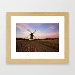 Pitstone Windmill  Framed Art Print
