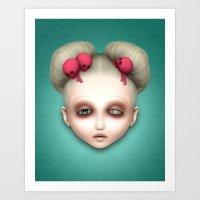 misfits Art Prints featuring Misfits - Hildi by Raymond Sepulveda