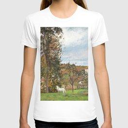 """Camille Pissarro """"Paysage avec cheval blanc dans un pré, L'Hermitage, Pontoise"""" T-shirt"""