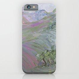 Pink Landscape Under Rosy Clouds iPhone Case