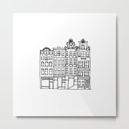canal houses one Metal Print