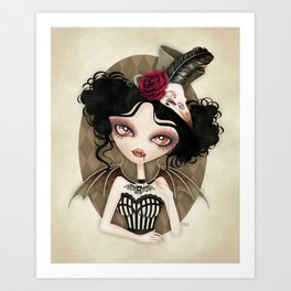 Countess Nocturne Vampire Art Print