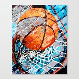 Modern basketball art 3 Canvas Print