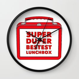 Super Duper Bestest Lunchbox Wall Clock