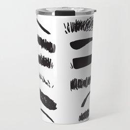 Sketchy Eyebrows Travel Mug