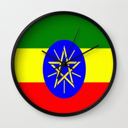 Flag of Ethiopia Wall Clock