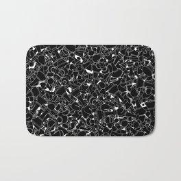 Chess Pattern BLACK Bath Mat