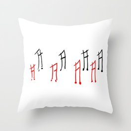 Melody 2 Throw Pillow
