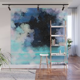 Evolve In Blue Wall Mural