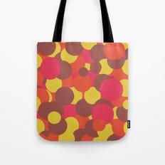 Autumn Retro Circles Design Tote Bag