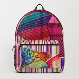rainbow print stripes Backpack