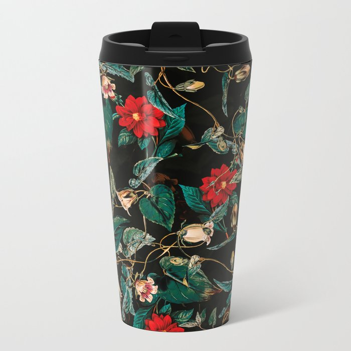 TROPICAL JUNGLE - Night II Metal Travel Mug