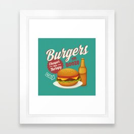 Burgers and Booze Framed Art Print