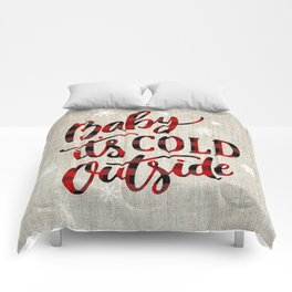 Baby It's Cold Red Buffalo Plaid Comforters