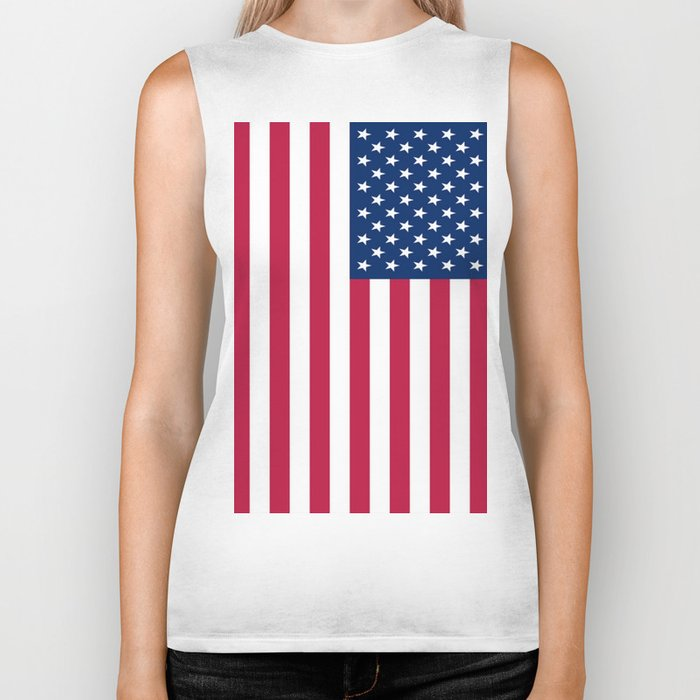 Flag of USA - American flag, flag of america, america, the stars and stripes,us, united states Biker Tank
