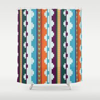 native Shower Curtains featuring native by Wooden Wolves