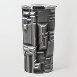 Brushed Metal Techno Plate Travel Mug