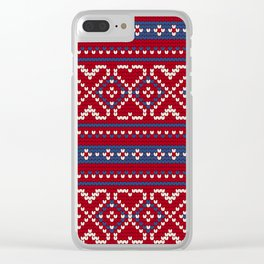 Pattern in Grandma Style #65 Clear iPhone Case