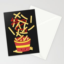 Extreme French Fry Making Stationery Cards