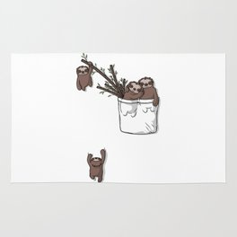 Pocket Sloth Family Rug