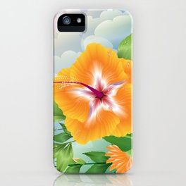 Haiku Hibiscus iPhone Case