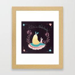 Alice In Wonderland. Framed Art Print