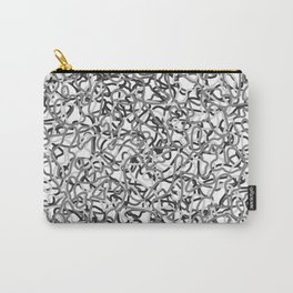 Chaotic gray tangled ropes and steel lines. Carry-All Pouch