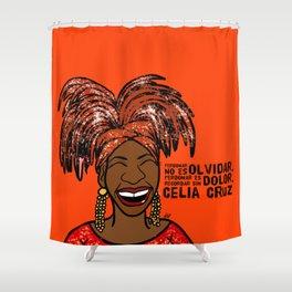 La Reina Celia Cruz Shower Curtain