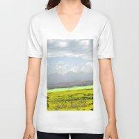 desert V-neck T-shirts featuring Desert by lookiz