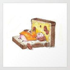 The Cozy Sandwich Art Print