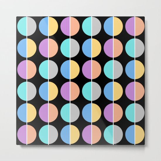 BACK TO THE 70's (abstract geometric pattern) Metal Print