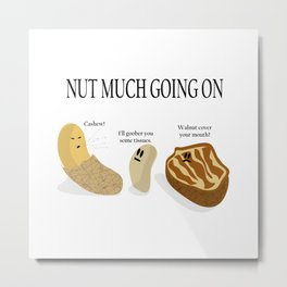 Nut Much Going On Metal Print