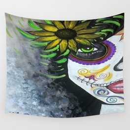 Day Of The Dead Doll Wall Tapestry