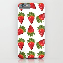 strawberries pattern, fill, repeating, tiled | elegant iPhone Case