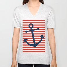 Nautical Anchor Unisex V-Neck