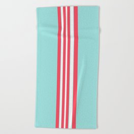 Seaside stripes Beach Towel