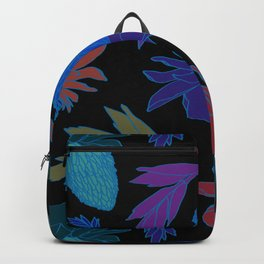 Tropical Ginger Plants in Moody Blues + Black Backpack