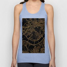 Black and gold Seoul map Unisex Tank Top